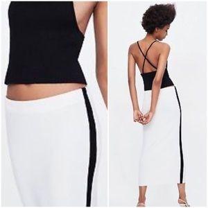 ZARA KNIT COLLECTION Midi Skirt S/M
